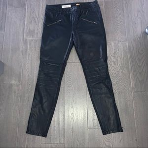 Anthropologie faux leather pants
